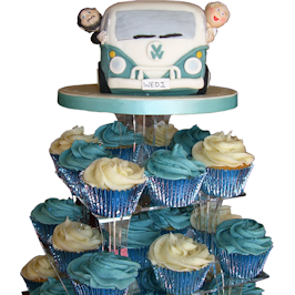 VW Camper Van Wedding With Cup Cakes