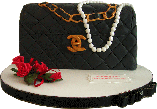 Classic chanel handbag kimboscakes novelty birthday all of our cakes are hand made using only the finest fresh ingredients delivery to nottingham and derby area is free and to other areas there is a small sciox Choice Image