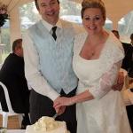 Burgundy Drape Wedding Cake Derby