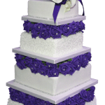 Rose and Cornelli wedding cake