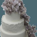 Autumn Swirl Wedding Cake