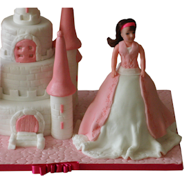 Barbie Castle & Doll birthday cake