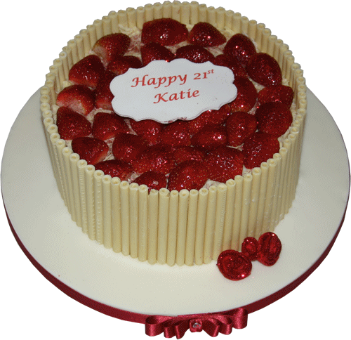 cake is set on a 12 inch round cake board which has hand iced and