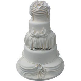 Calla Lily Tower Multi tier wedding cake Derby