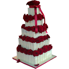 Chocolate Panel Wedding Cake Kimboscakes London
