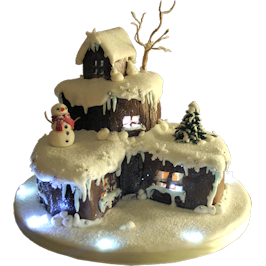 Christmas House Cake Derby