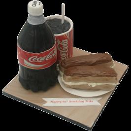 Coca Cola Novelty Birthday Cake