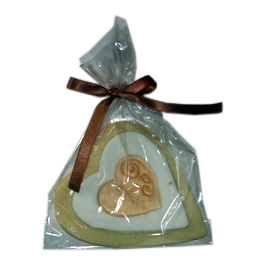Gold Heart Cookie Favour