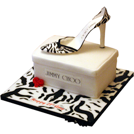 Jimmy Choo Shoe Box And Shoe Novelty Cake
