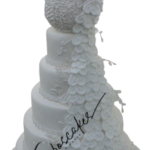 Peacock wedding cake nottingham