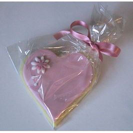 Pink heart butter cookie wedding favour
