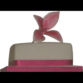 Pink stargazer lily wedding cake colchester
