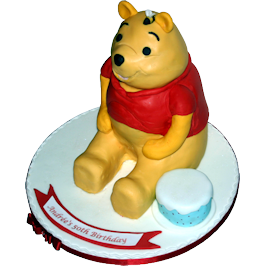 Pooh Bear Childrens Birthday Cake