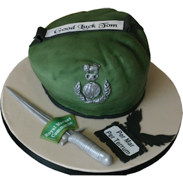 Royal Marines Commando Beret Novelty Cake Nottingham