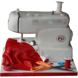 Sewing Machine Bespoke Novelty 3D cakes