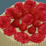 Strawberry Cigarello Heart Cake