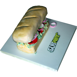 Subway Baguette Birthday Cake