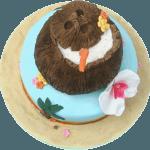 Tropical Island Birthday Cake Birmingham