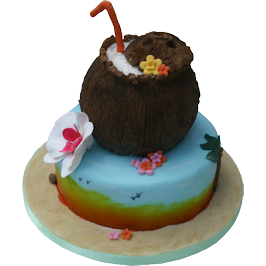 Tropical Island Birthday Cake Leicester