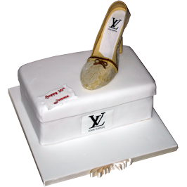 Vuitton Lace Shoe Birthday Cake Birmingham