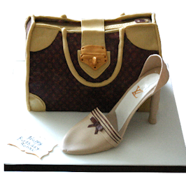 Vuitton bag shoe novelty cake london