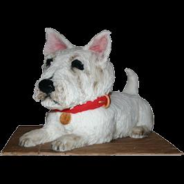 West Highland Terrier 3D Birthday Cake Derby