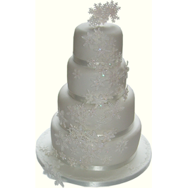 Winter Snowflake Wedding Cake Nottingham Derby