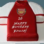 Arsenal Shirt Football Cake