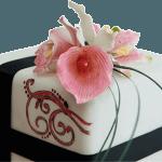 Fuschia Lily Wedding Cake Derby