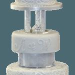 Calla Lily Monogram Wedding Cake