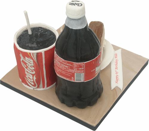 Strange Coca Cola Birthday Cake Novelty 3D Derby Nottingham Funny Birthday Cards Online Necthendildamsfinfo