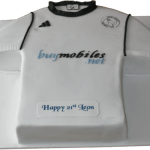 Derby Rams Football Strip Cake