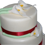 Calla Lily Wedding Cake Derby Nottingham