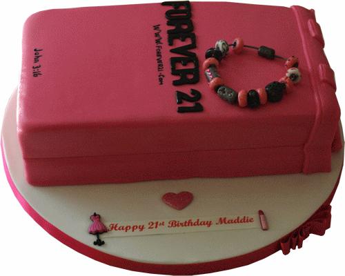 Forever 21 novelty carrier bag cake kimboscakes Leicester