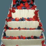 Fruit Cigarello Asian Wedding Cake