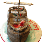 Christmas Pirates Childrens Birthday Cake