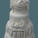 Calla Lily Tower Multi tier wedding cake Derby