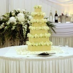 Stacked Cigarello multi tier wedding cake derbyshire