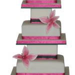 Pink stargazer lily weddng cake colchester