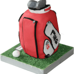 Ping Golf Bag Novelty Sculptured Birthday Cake