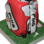 Ping Golf Bag 3D Celebration and Wedding Cakes