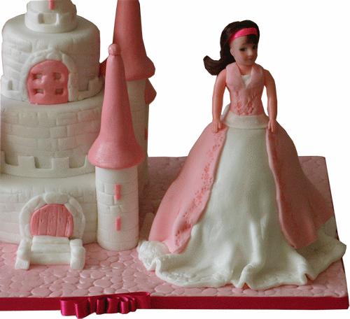 Swell Barbie Castle Doll Birthday Cake Kimboscakes 3D Cakes Birthday Cards Printable Riciscafe Filternl