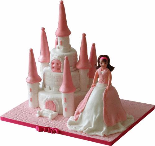 Barbie Castle Cake Images : Barbie Castle & Doll Birthday Cake Kimboscakes 3D Cakes