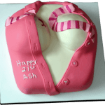 Sexy blouse adult birthday cake