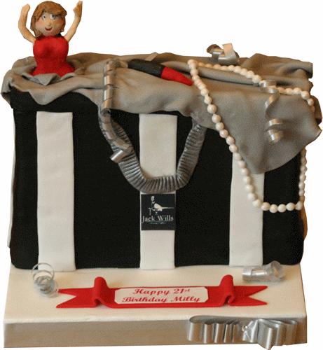 Jack wills carrier bag birthday cake mansfield bingham
