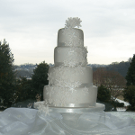 Winter snowflake wedding cake Nottinghamshire Derbyshire London