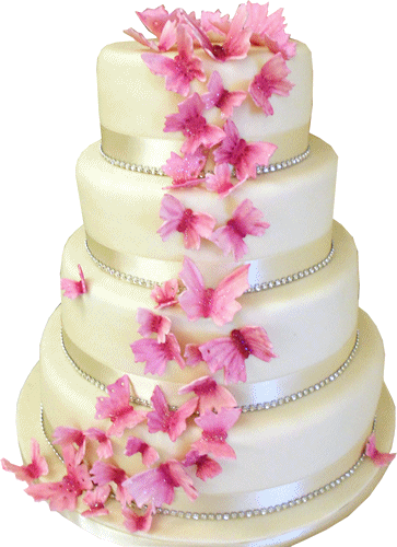 Butterfly Trails | Wedding Cakes | Derbyshire | Kimboscakes