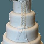 Lace Effect Wedding Dress Cake Derby Nottingham