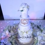 Orchid Heaven Wedding Cake