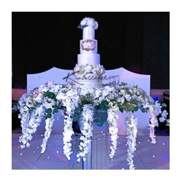 Orchid Heaven Wedding Cake